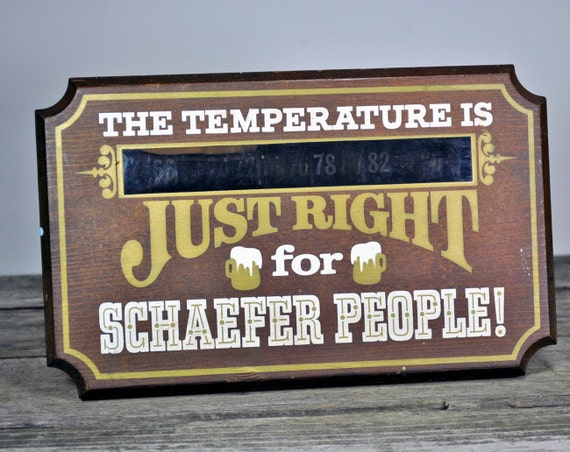Vintage Schaefer Beer Sign Thermometer Rare Advertising