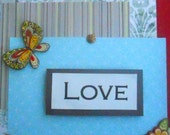 Love Shadowbox With 3D Elements, Blue, Red, Yellow 8x10x1.25 Inches