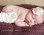 FIELD OF DREAMS vintage inspired shabby chic arm warmers for girls or leg warmers for baby