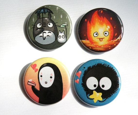 Ghibli character button pack: