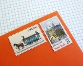 Vintage un-used - Blue New York - postage stamps to post 5 letters