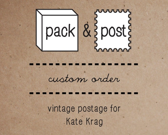 CUSTOM ORDER - Reserved for Kate Krag