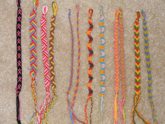 Two (2) custom made friendship bracelets
