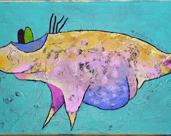 Abstract PRINT Painting  - LIPEA - nursery art