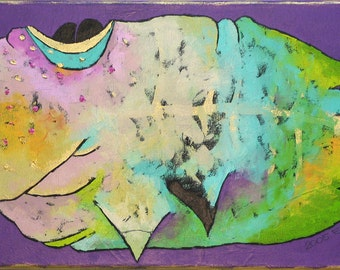 Abstract ORIGINAL nursery art Painting Contemporary Art Palette Knife Oil on canvas - CESARIA - nursery art
