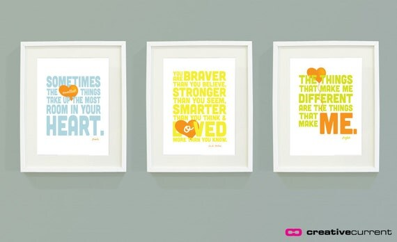 A a milne quotes set of 3 printable kids bedroom art for Bedroom furniture quotes