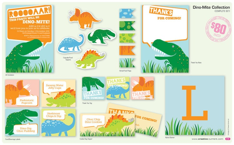 Pin The Tail On The Dinosaur Dino-Mite Party By