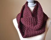 Burgundy Infinity Scarf - Made to Order, Fall Scarf, Oxblood Scarf, Crochet Loop Scarf