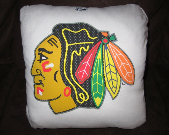 Chicago Blackhawks Patrick Kane Upcycled T-Shirt Pillow - 14 x 14