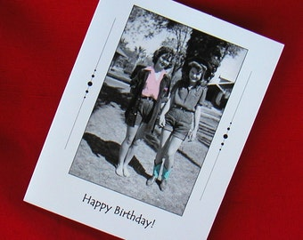 BIRTHDAY CARD 1940s Two Friends Two Women Two Pals