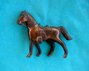 Mid Century 1950s 1940s Metal Coppery Horse