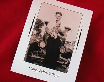 Father's Day Card 1920s Photo Vintage Dad
