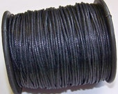 9 yards (27 feet) black waxed cotton cord 1mm thick