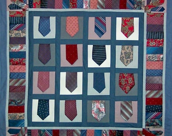 Necktie Quilt Pattern for Quilted Wall Hanging