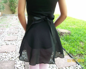 """Child Small Wrap Skirt, 10"""" or 11"""" Long, Many Colors, Ballet Skirt, Ballet Wrap Skirt, Dance Skirt, Ice Skating Skirt"""