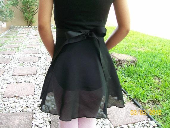 """Child Small Ballet Skirt, 10"""" or 11"""" Long, Many Colors, Dance Skirt, Ballet Wrap Skirt, Ice Skating Skirt, Girl Small Skirt"""