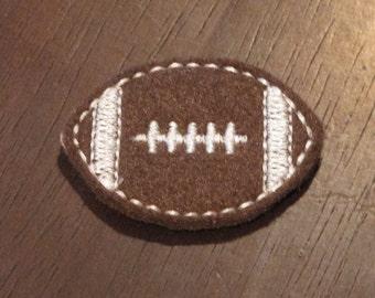 Four (4) Machine Embroidered Felt Football Embellishments