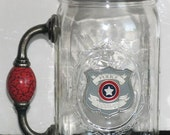Items similar to redneck wine glass police officer cowboy Big w wine glasses