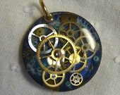 Steampunk 2-Sided Pendant from the Pinion Collection