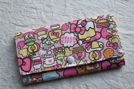 Handmade Wallet with Hello Kitty pattern