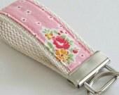Mini Key Fob - Keychain - Pink Floral