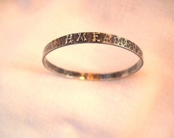 Sterling Arts and Crafts Style Bangle