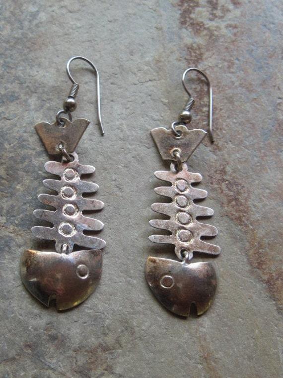 Mexican Fishbone Pierced Earrings