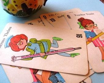 1968 Jumbo Old Maid Cards- Set of 6