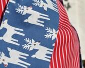 Reindeer Santa Sack in Blue