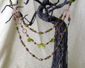 Wild Blackberries - a glass bead necklace
