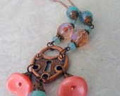 Sunset Romance - a Czech glass necklace