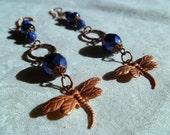 Dance of the Dragonflies -  Czech glass earrings