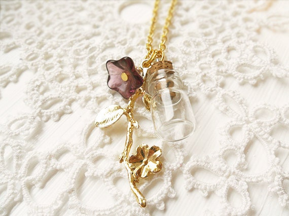 Iris. a charm necklace