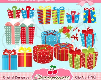 Different Gifts Digital Clipart Set for-Personal and Commercial Use-paper crafts,card making,scrapbooking