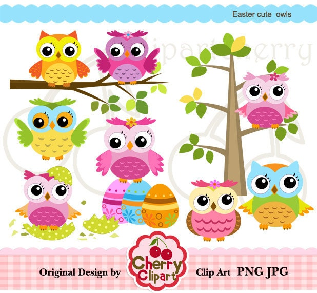 free easter owl clip art - photo #18