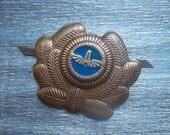 """rare soviet cockade cap badge insignia icon transport sign """"DRIVER""""  - 100 % original"""