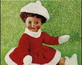 "No.31 PDF Vintage Knitting Pattern For 18"" Dolls - Ice Skating Outfit, Dress, Cap, Boots, Mittens - Lee Target 6310 - Instant Download"