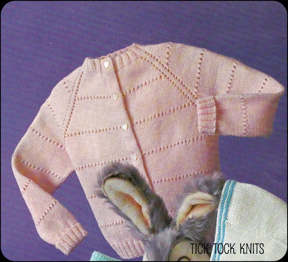 Baby's/Child's Raglan Cardigan, Knit Top-Down