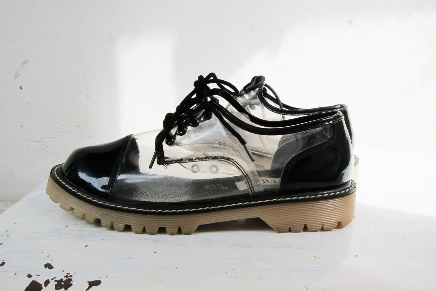 Julianos Vintage Clear Dr Martens Shoes