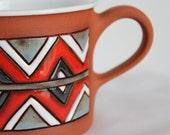 Coffee cup - colorful chevron stripes geometric symmetrical