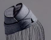 STEWARDESS HAT grey winter