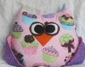Cupcake Owl - Stuffed Plush Toy