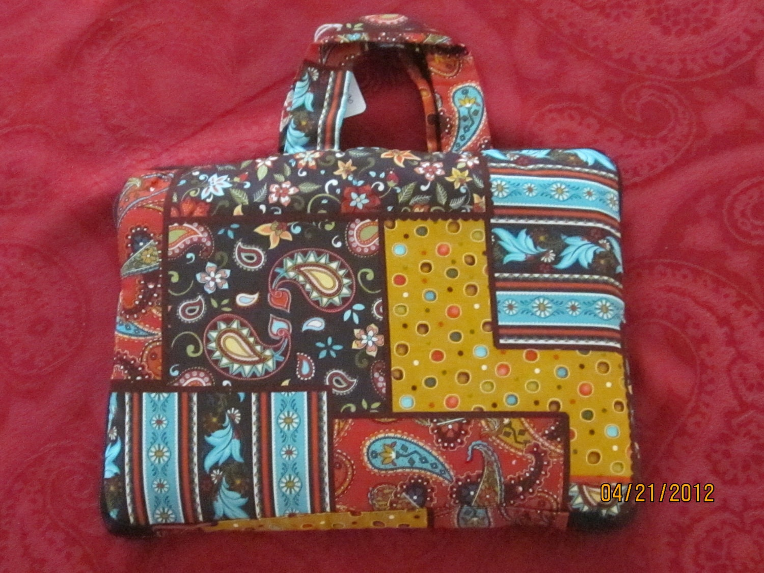 Book Cover With Zipper Pattern : Bible cover zippered large book paisley