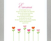 Baptism Gift - Bible Verse - Psalm 121: 5-8 - with custom name