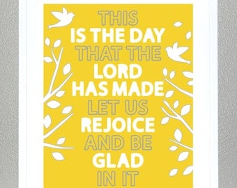 Bible Verse - Psalm 118:24 (Lemon) - 8x10