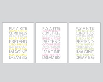 Prints for kids - You choose colors - BE A KID - 8x10 Poster