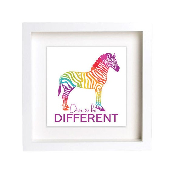 Zebra Stripes Wall Decor : Zebra wall decor rainbow stripes dare to be different