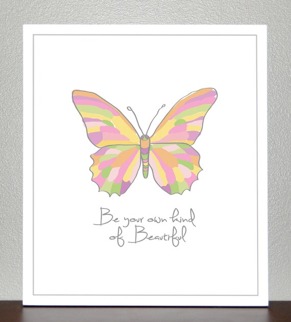 Butterfly print - (Pastels) 8x10