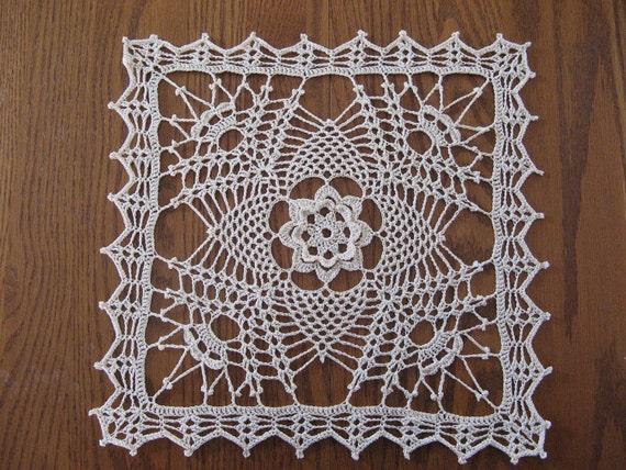 Crochet square doily