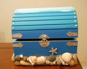 Beach Sand and Sea Shell Wedding Booty Box (Card Box)